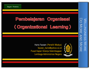 Front Cover Organizational Learning (picture)