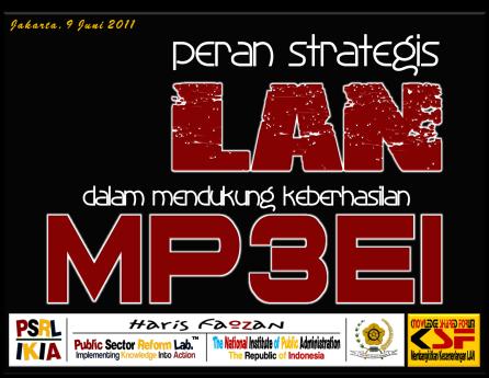 Peran Strategis LAN dalam mendukung Keberhasilan MP3EI